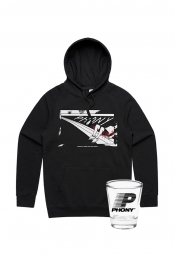 Nowhere Pullover Hoodie + Shot Glass Bundle