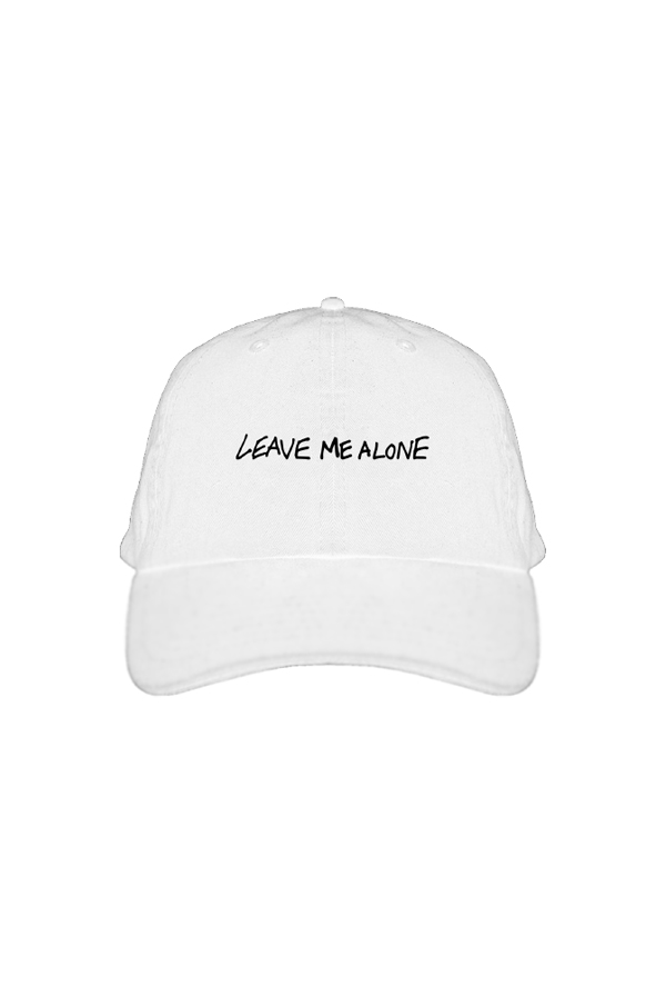 Leave Me Alone Dad Hat (White)