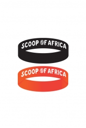 Scoop Of Africa Wristbands Black + Orange