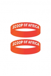 2 Orange Scoop Of Africa Wristbands