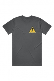 Men At Work Caution Tee (Asphalt)