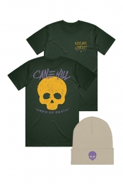 Krewe beanie (Natural) + Krewe Tee (Forest Green)