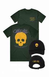 Skull Dad Hat + Krewe Tee (Forest Green)