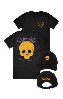 Skull Dad Hat + Krewe Tee (Black)