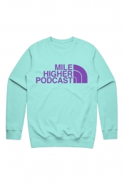 The Mile Higher Crewneck (Chalky Mint)