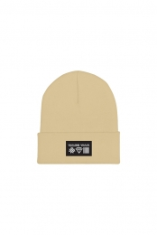 Logos Patch Beanie (Tan)