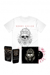 The Devils Cut LP (Translucent w/ Red Splatter) + White Skull Tee + Pick Tin