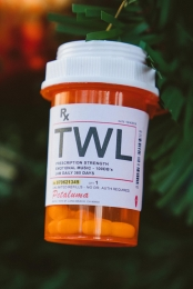 Handmade Pill Bottle Ornament