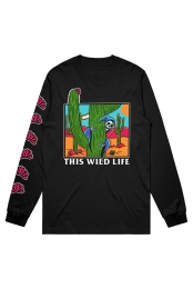 Cactus Reaper Long Sleeve Tee (Black)