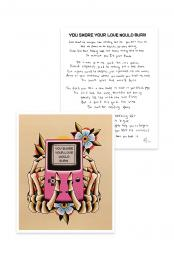 You Swore Your Love Would Burn Handwritten Lyric Print + Flash Sheet