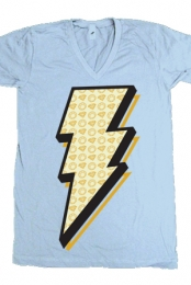 Ride the Lightning V-neck (light blue)