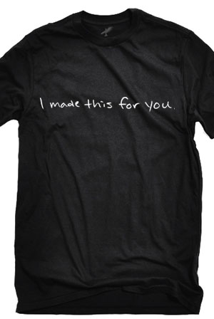 I Made This For You (Black Crew-Neck)