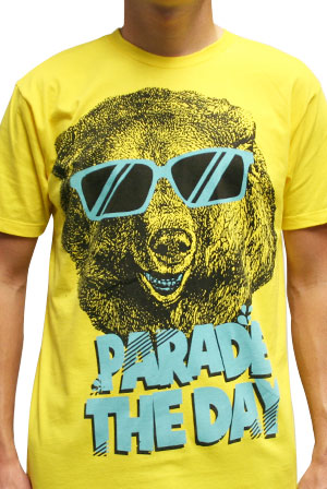 new arrival c50b0 1142c Cool Bear (Yellow) T-Shirt - Parade the Day T-Shirts ...