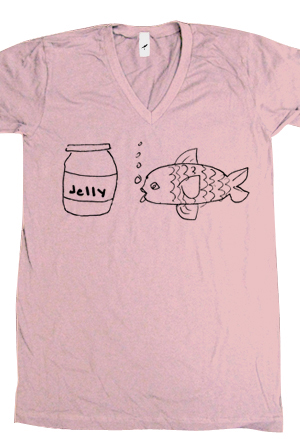 Jellyfish (Pink V-Neck)