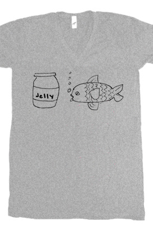 Jellyfish (Heather Grey V-Neck)