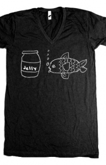 Jellyfish (Black V-Neck)