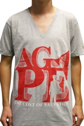 AGAPE (Grey V-Neck)