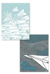 2 Sided Poster (Waves/ Airplanes)