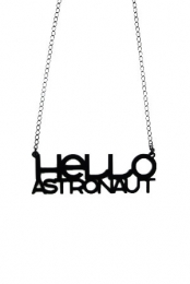Hello Astronaut Necklace