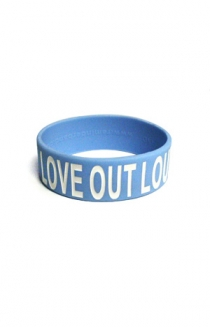 Love Out Loud Wristband (Light Blue)