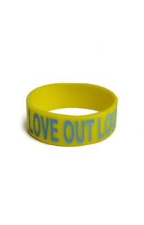 Love Out Loud Wristband (Yellow)