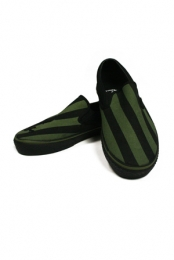 Alcatraz Slip On (Black and Green)