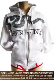 COIN, or DIE. (WHITE)