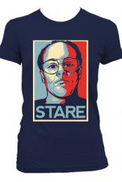 Girls Stare T-Shirt (Navy)