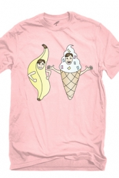 Bananalew & Coneith (Pink Crew Neck)