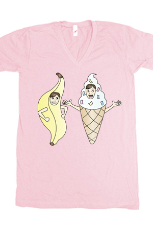 7ff79c90208c5a Bananalew   Coneith (Pink V-Neck) T-Shirt - Nanalew T-Shirts - Online Store  on District Lines
