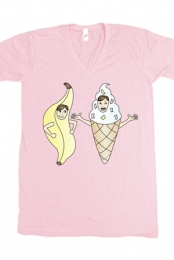Bananalew & Coneith (Pink V-Neck)