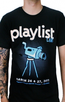 2011 Playlist Live T-Shirt (Black)