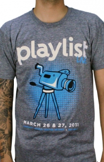 2011 Playlist Live T-Shirt (Heather Grey)