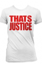 That's Justice (Womens White)