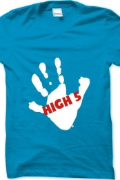 High 5 Men's T Shirt - Blue