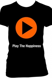 Play The Happiness T Shirt - Womens - Black