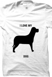 i love my dog- white