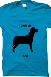 i love my dog- light blue