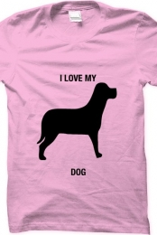 i love my dog- light pink