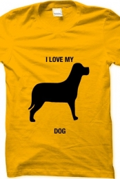 i love my dog- yellow