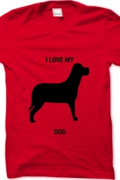 i love my dog- red
