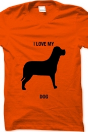 i love my dog- orange
