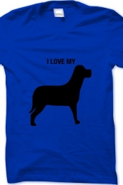 i love my dog- royal blue