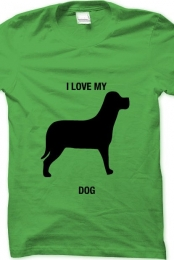 i love my dog- green