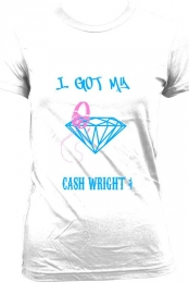 Ladies- Got My Cash Wright Tee