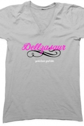 Girly Dellzasaur V-Neck