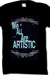 We are All artistic tee