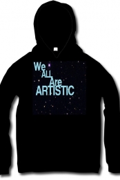 We are All artistic hoodie