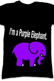 I'm a purple elephant