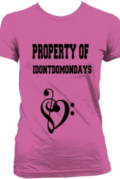 property of i dont do mondays music heart